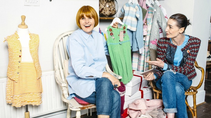 Celebrity mums donate kids' clothes to