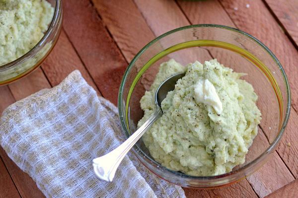 Mashed roasted cauliflower and jalapeno