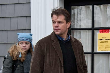 Matt Damon and Anna Jacoby-Heron in Contagion