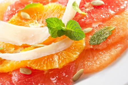 Winter fruit salads