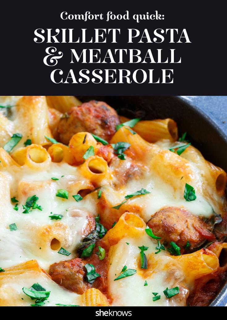 meatball pasta casserole