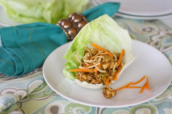 Spicy tofu wrap