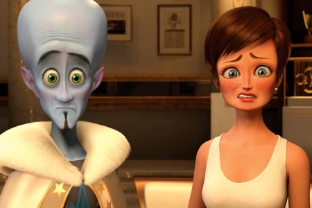 Will Ferrell and Tina Fey in Megamind