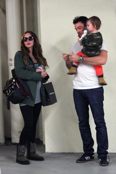 Pregnant Megan Fox, Brian Austin Green and son Noah