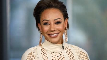 Mel B visits 'Extra' at Universal