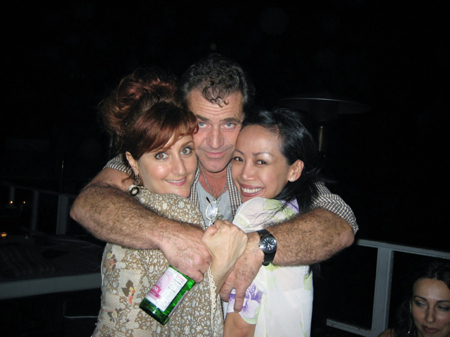 Mel Gibson strikes a drunken pose