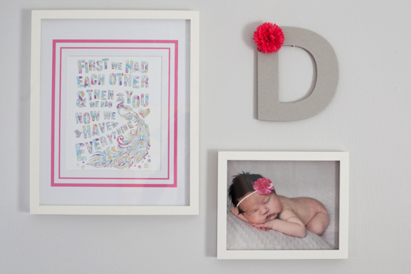 Girl's nursery: Wall art