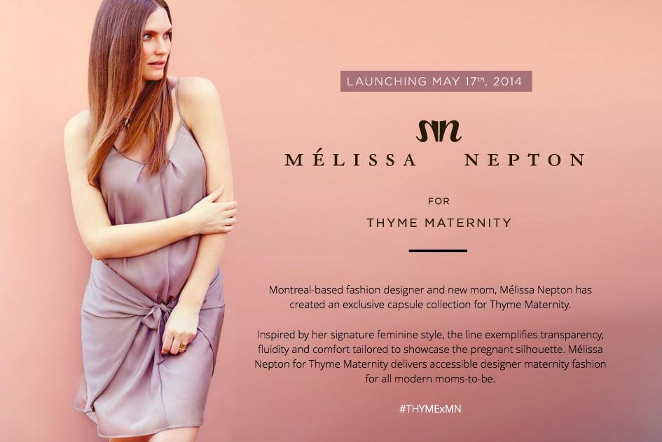 Mélissa Nepton + Thyme Maternity | Sheknows.ca
