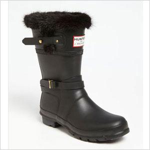 Hunter for J Mendel Genuine Fur Trim Boot