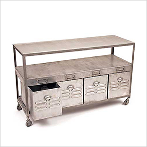 Industrial metal console | Sheknows.com