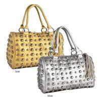 gold and silver metallic handbags