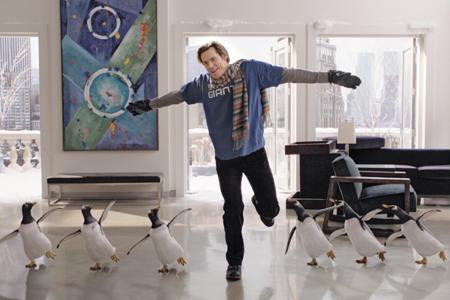 Jim Carrey ponders Mr. Popper's Penguins