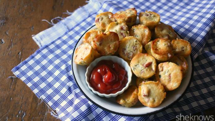 Mini jalapeño kielbasa cornbread muffins are