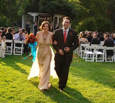 Michael and Sarah at their wedding