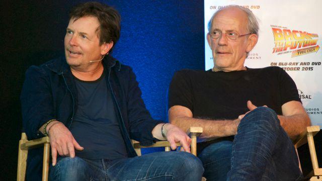 Michael J. Fox and Christopher Lloyd