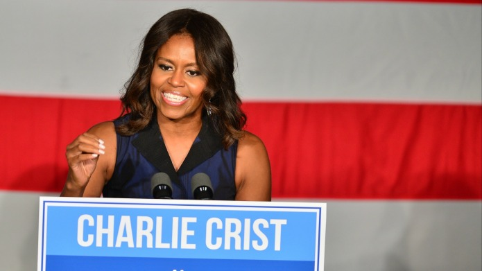 Michelle Obama's new look on Jeopardy