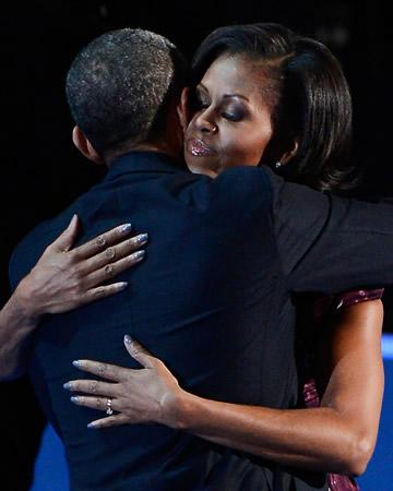 Michelle Obama grey nails
