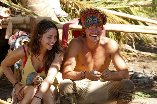 Michelle Schubert with Jay Starrett on Survivor: Millennials Vs. Gen-X