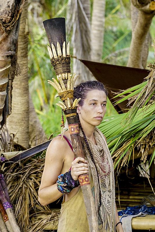 Michelle Schubert carries her torch on Survivor: Millennials Vs. Gen-X