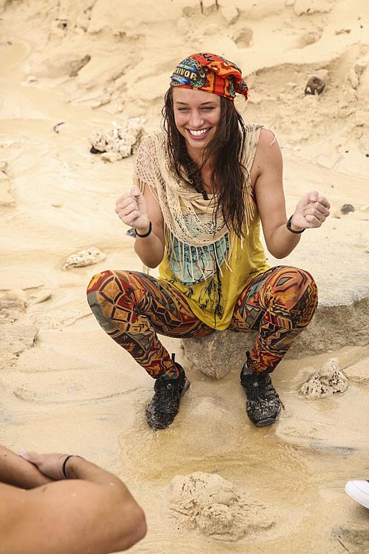Michelle Schubert at Millennials beach on Survivor: Millennials Vs. Gen-X