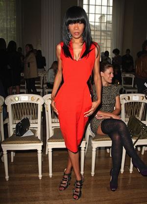 Michelle Williams at London Fashion Week 2011.
