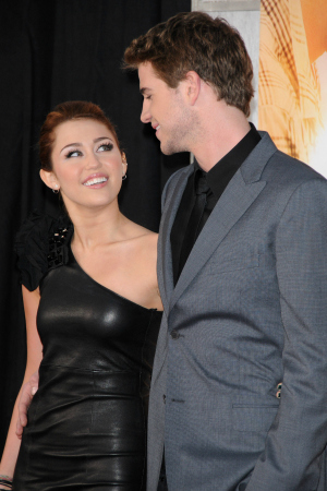 Miley Cyrus and Liam Hemsworth in 2010