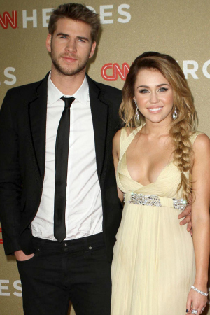 Liam Hemsworth and Miley Cyrus in 2011