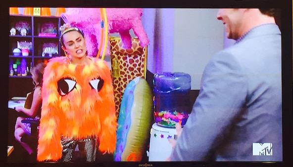 Miley Cyrus' fuzzy, bear sweater