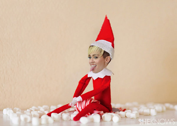 Miley Cyrus Elf on the Shelf meme