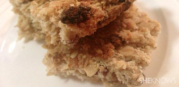 Healthy muesli oat slice