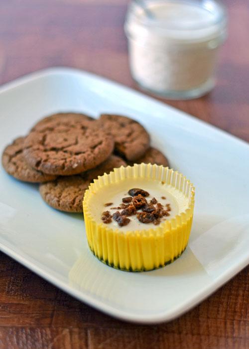 mini lemon cheesecakes with gingersnap crust