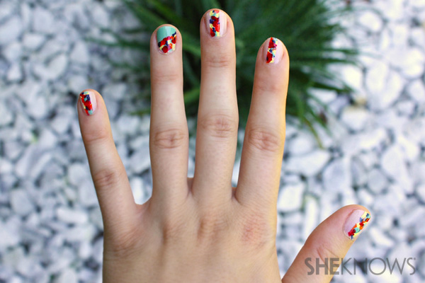 Fashion Week: Rebecca Minkoff-inspired floral nails