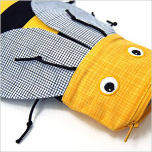 Minne Bites bee pencil case