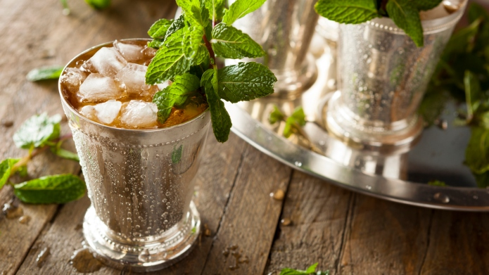 Refreshing Cold Mint Julep for the