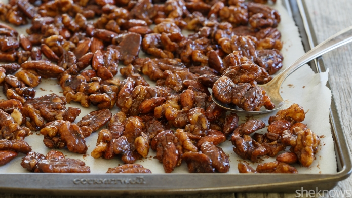 Slow cooker candied nuts make the