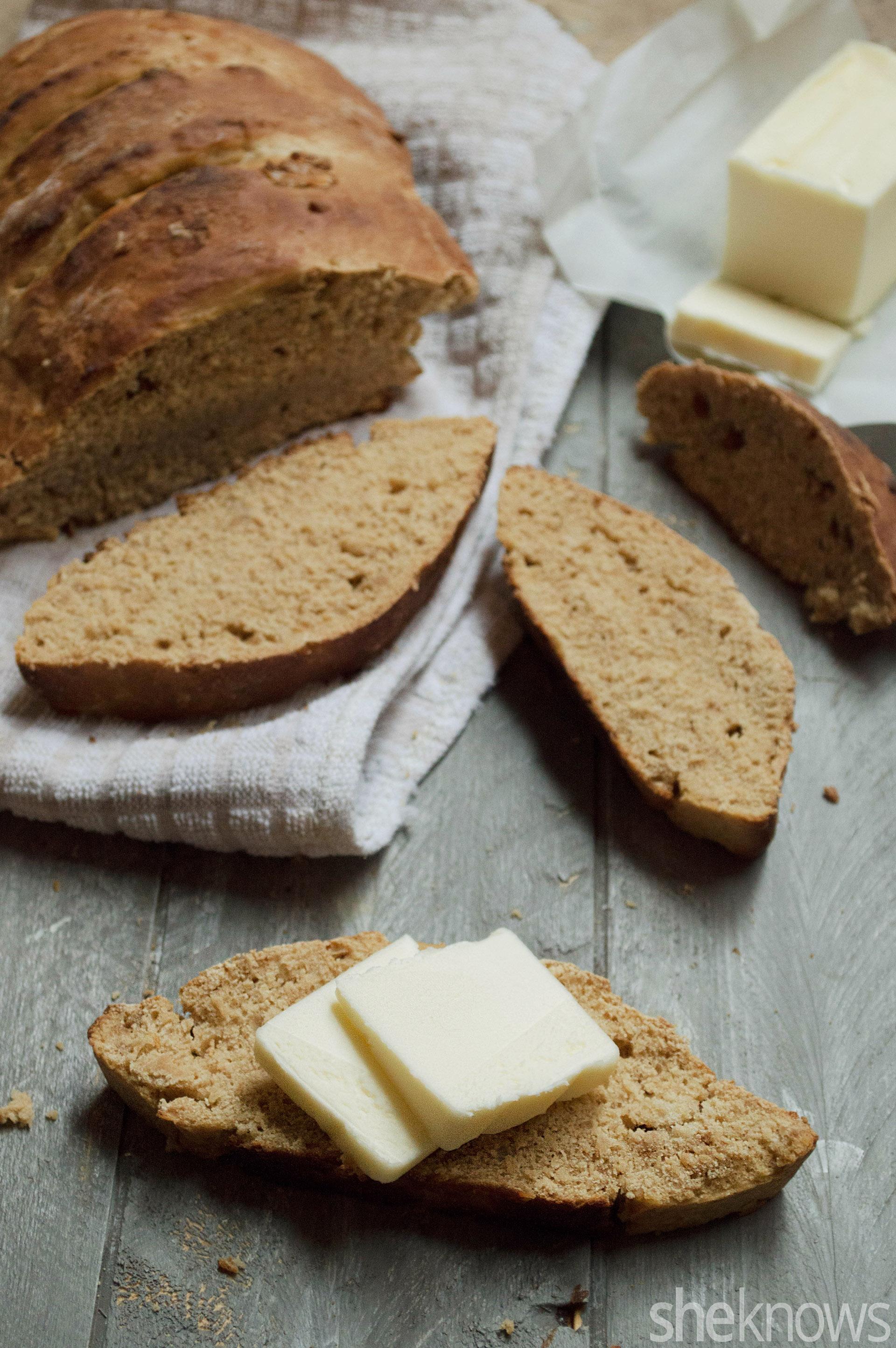 homemade molasses bread