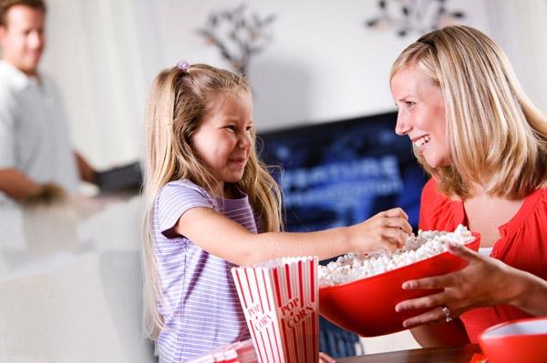 Mom daughter movie night