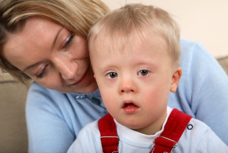 Mom with child with Down syndrome