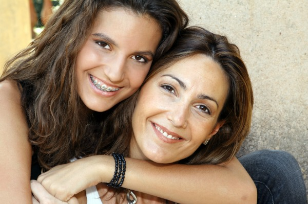 Mom with young teen