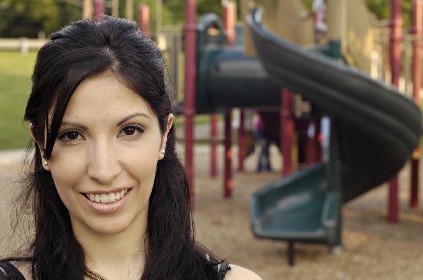 mom at playground