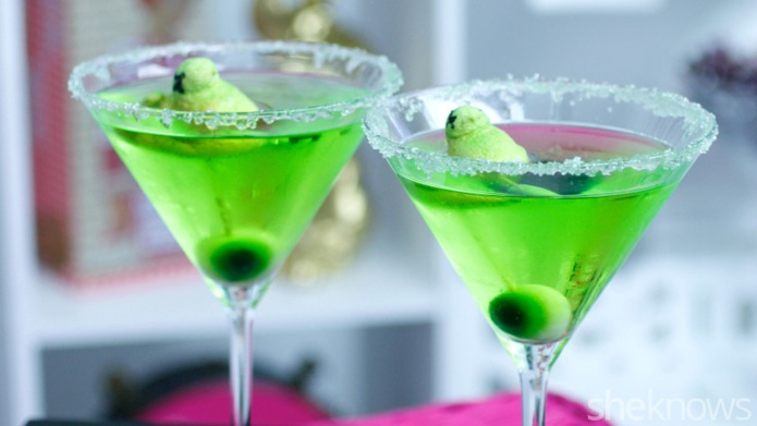 Monster martini: An appletini with a