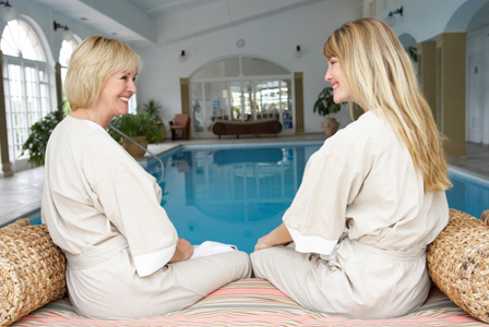 Mother and daughter at spa