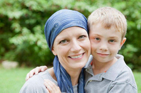 Mother living with cancer
