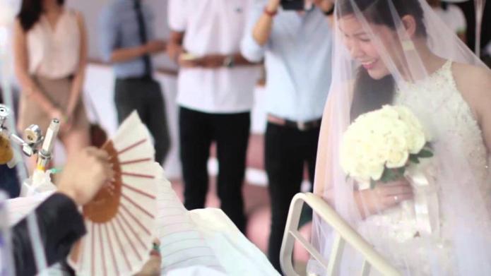 Terminally-ill groom fulfills his last wish
