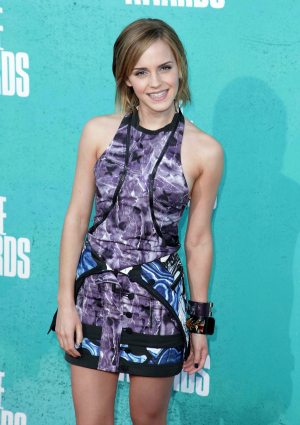 Harry Potter actress Emma Watson at the MTV Movie Awards 2012
