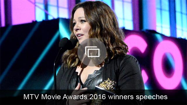 MTV Movie Awards 2016 speeches slideshow