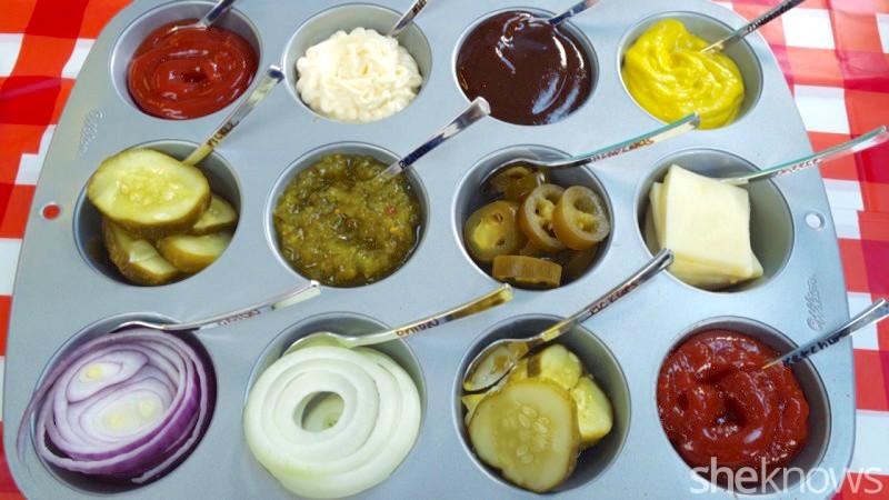 muffin tray condiments