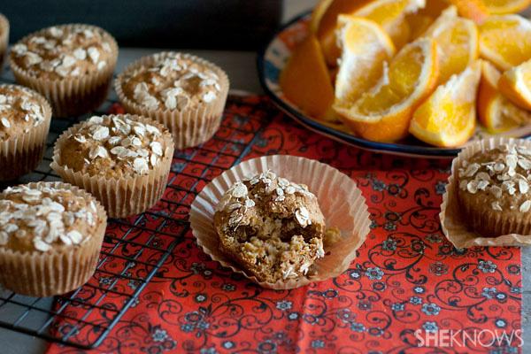 Raw honey bran muffins with orange zest recipe