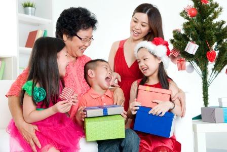 Multigenerational family at Christmas