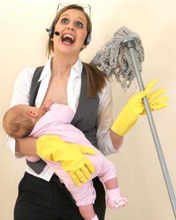 Multi-tasking mom